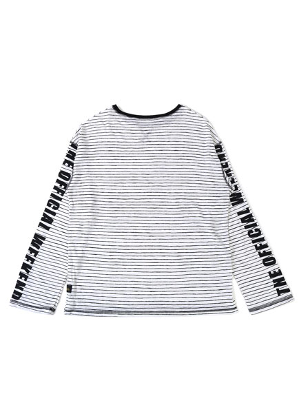 [더오피셜위크앤드]STRIPE LINEN LONG SLEEVE