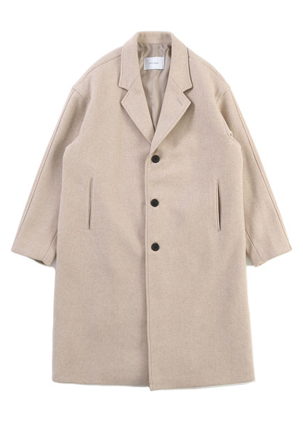 [더오피셜위크앤드]THREE BUTTON WOOL LONG COAT