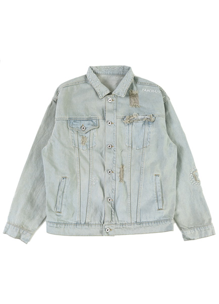 [더오피셜위크앤드]ASH LIGHTBLUE DENIM JACKET